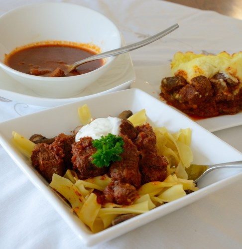 goulash-over -noodles-and-goulash-soup-in-a-bowl