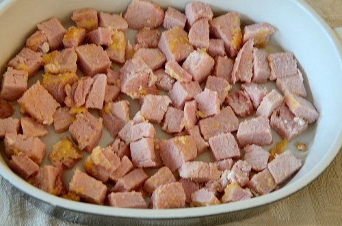peameal-bacon-cubes-in-casserole