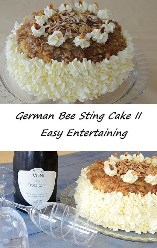 This delicious German Bee Sting Cake is so easy to make I decided to spend a bit of extra time on the icing to take it up a notch for a special occasion.