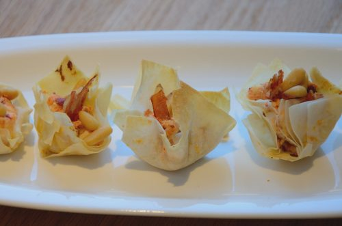 Prosciutto and Pepper Phyllo Cups