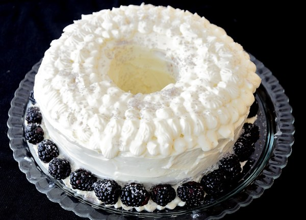 Liqueur Bundt Cake with Piped Cream Cheese Icing