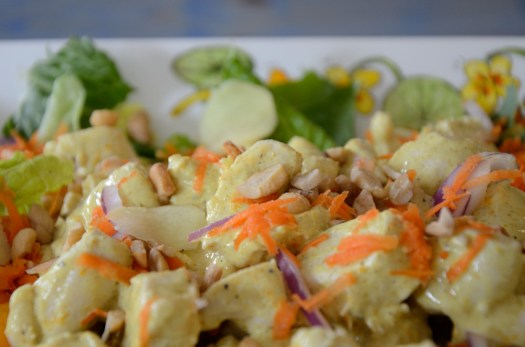 Curried Chicken and Pickled Ginger Salad