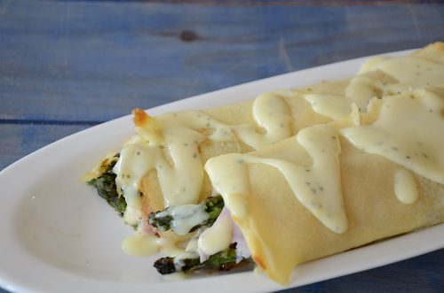 Ham and Asparagus Crepes