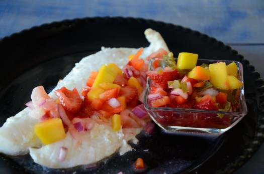 Orange Roughy with Mango Lime Salsa