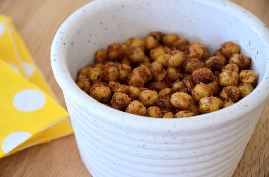 BBQ Roasted Chickpeas make the best guilt free snack! They pack a big flavour punch with lots of spices. These are so good I can hardly believe they are healthy - but they are!