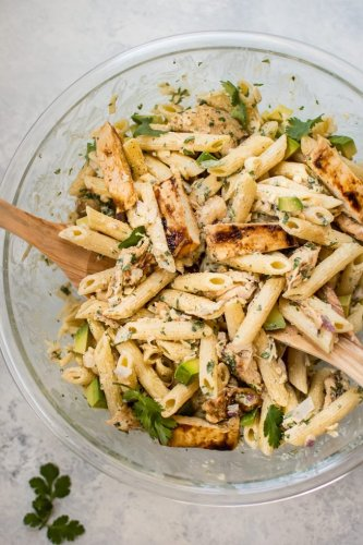 Picnic Grilled Chicken Pasta Salad