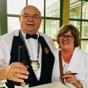 Volunteers staffing the wine tasting event