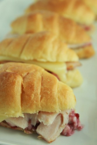 Leftover Turkey Slider with Cranberry Cream Cheese