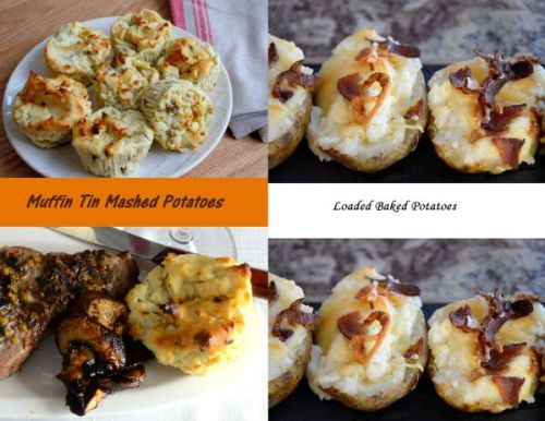 Muffin Tin Mashed Potatoes and Loaded Baked Potatoes