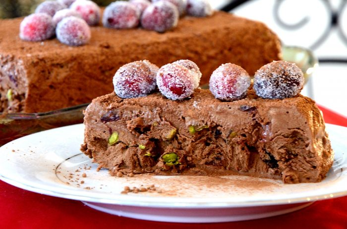 Chocolate Cranberry Semifreddo