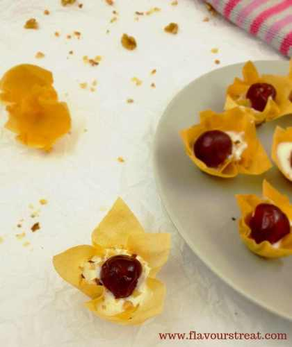 Phyllo Dessert Canapes