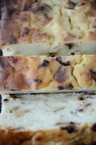 Sliced German potato loaf
