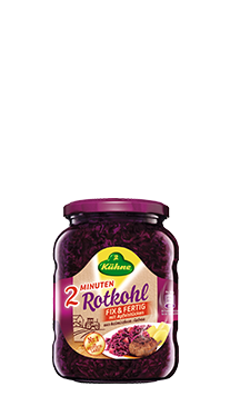 jar of Kuhne red cabbage