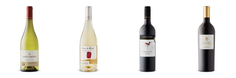 Four wine bottles from recommendations for LCBO Vintages Release Aug, 31 2019.