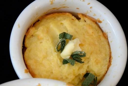 Cheddar Potato Soufflés