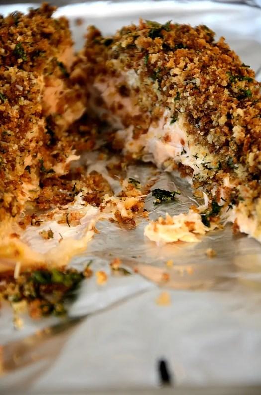 Herb Crusted Salmon with Lemon Cream Sauce