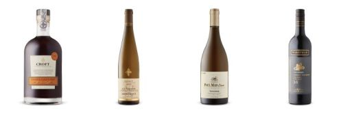 four wine bottles from LCBO Mary 7 2020 Vintages release