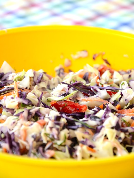 Rainbow Coleslaw With Celery Seed Dressing