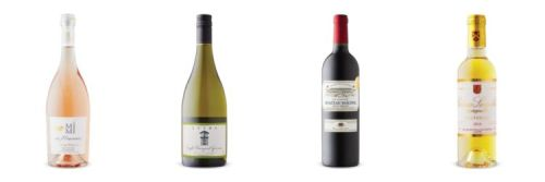 Four wine bottles from July 25 2020 LCBO Vintages Release