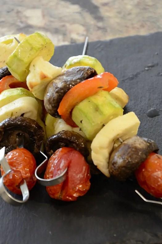 Roasted Halloumi Kebabs
