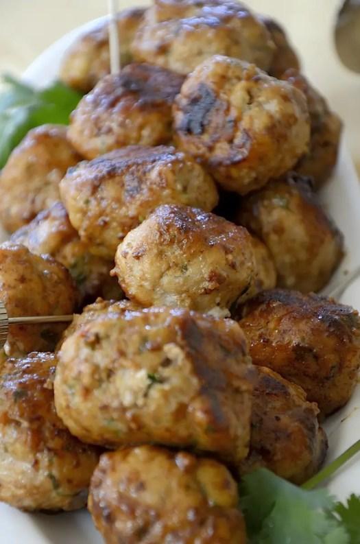Healthy Lemon Turkey Meatballs