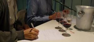Notetaking in a wine Masterclass