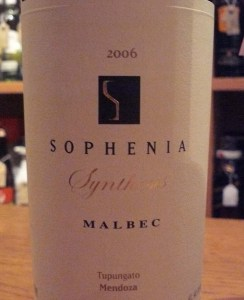 The '06 Synthesis Malbec