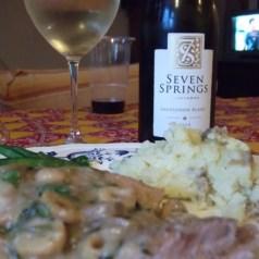 Food and wine match, 7 Springs Sauvignon Blanc & chicken with roast lemon