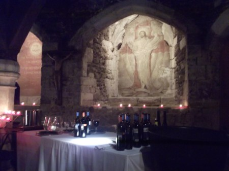 wine in the crypt