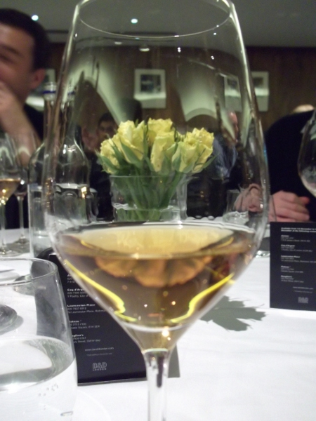 flowers thru the wine glass