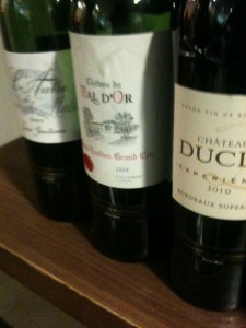 a selection of the wines