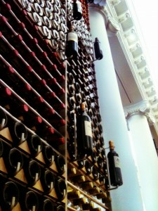 wall of wine at the CIVB