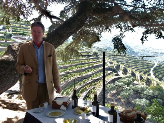 Christian on the terrace of Quinta do Noval