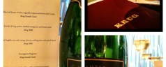 Murano and Krug Champagne – a seasonally paired menu