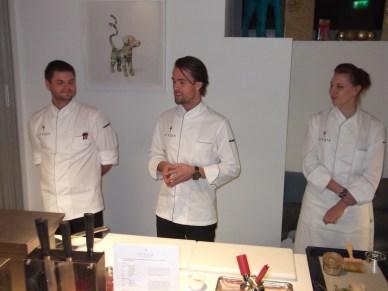 (L-R) Chefs Daniel, Peter & Celine