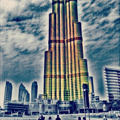 lower half of the Burj