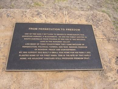 Freedom plaque