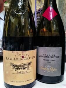 the cabernet francs, 2011 Langlois-Chateau and 2005 Vielles Vignes