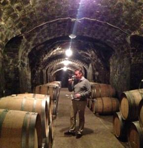 Laszlo in the cellar