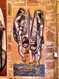 mosaic in the Senoria de Sarria chapel