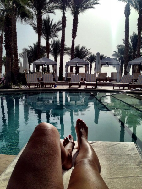 laying by Waha pool, which is mostly what we did while we were there - bliss!