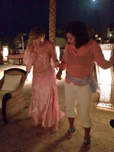 'Sleuthy trying her best to keep up with the belly dancer