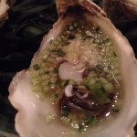 jellied oyster with cucumber