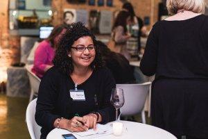 doing my wine interview credit: Emma Gutteridge
