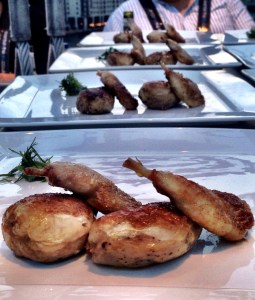 free range quail with foie gras