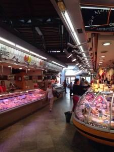 Santa Catarina market, way less crowded then La Boqueria