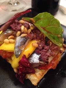 sardines and mango, Bar del Pla