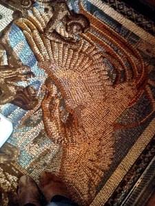 mosaics on the lavatory floor
