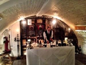 In the Stafford Hotel Cellar