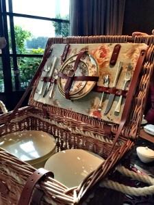 Four Seasons Picnic basket The Four Seasons Hotel Mayfair London Afternoon tea